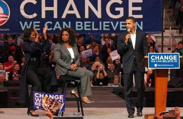 Michelle Obama, Oprah Winfrey et Barack Obama