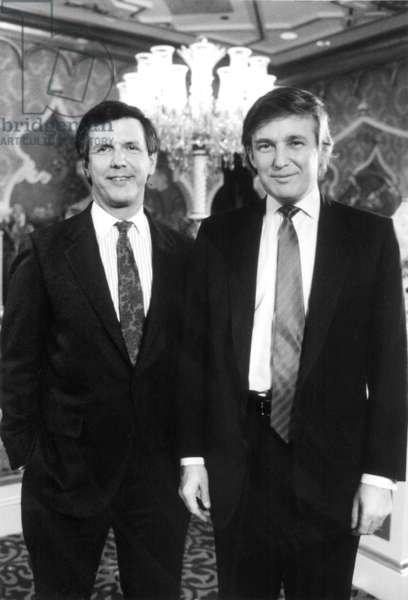 GOOD MORNING AMERICA, Charles Gibson, Donald Trump, 1990. (c)ABC. Courtesy: Everett Collection