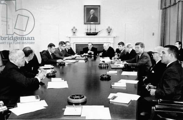 JFK et son cabinet