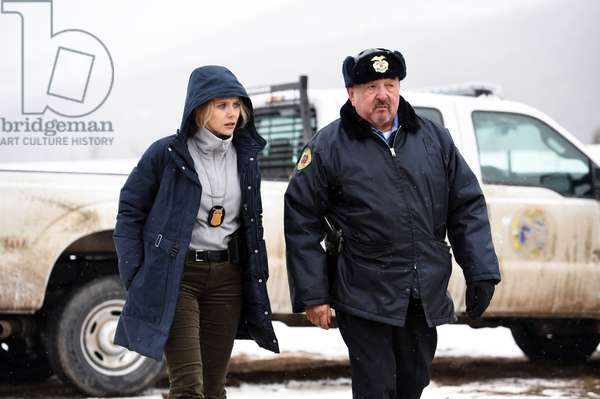 WIND RIVER, from left, Elizabeth Olsen, Graham Greene, 2017. ph: Fred Hayes. ©The Weinstein Company/courtesy Everett Collection