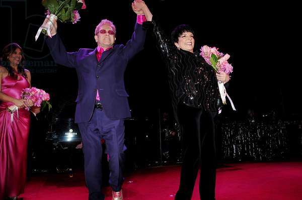 Elizabeth Hurley, Elton John, Liza Minnelli at arrivals for HOT PINK Party Breast Cancer Research Foundation, Waldorf-Astoria Hotel, New York, NY April 29, 2009. Photo By: Rob Rich/Everett Collection