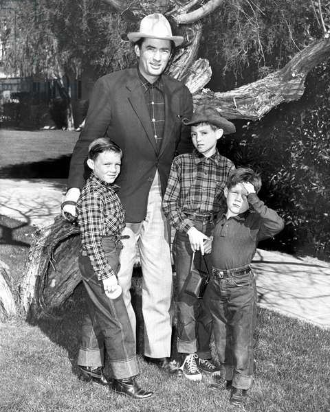 STEPHEN PECK, GREGORY PECK, JONATHAN PECK and CAREY PAUL PECK on vacation at the El Mirador Hotel in Palm Springs