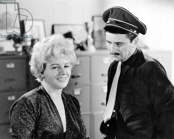 THE BALCONY, from left: Shelley Winters, Peter Falk, 1963