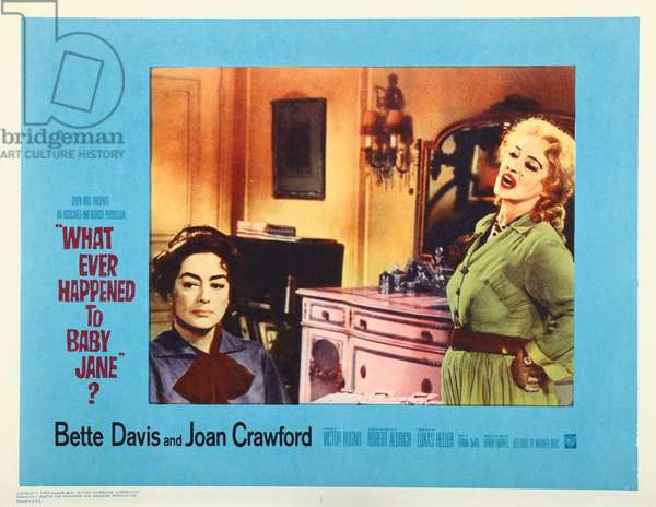 WHAT EVER HAPPENED TO BABY JANE?, US lobbycard, from left: Joan Crawford, Bette Davis, 1962