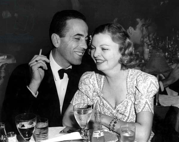 Humphrey Bogart, Mayo Methot at Ciro's in 1940