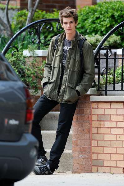 Andrew Garfield, films a scene at the AMAZING SPIDER-MAN movie set in Windsor Terrace out and about for CELEBRITY CANDIDS - SUN, , New York, NY May 8, 2011. Photo By: Ray Tamarra/Everett Collection