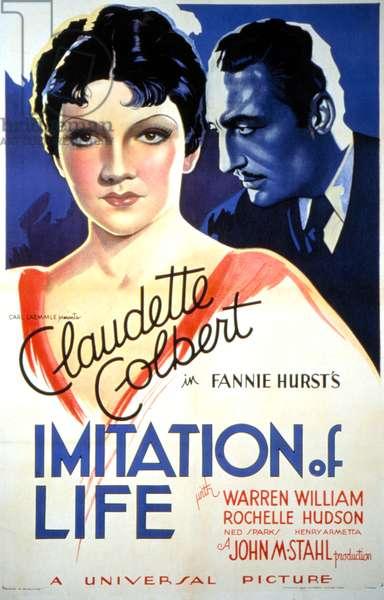 IMITATION OF LIFE, Claudette Colbert, 1934.