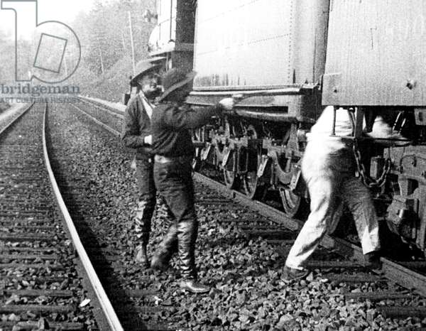 'The Great Train Robbery', 1903 (b/w photo)
