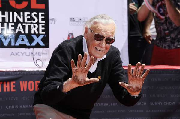 Stan Lee at a public appearance for Stan Lee Handprint & Footprint Ceremony, TCL Chinese Theatre (formerly Grauman's), Los Angeles, CA July 18, 2017. Photo By: Michael Germana/Everett Collection