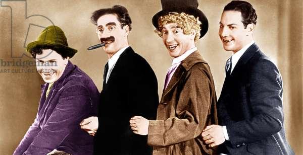 Marx Brothers: ANIMAL CRACKERS, from left: Chico Marx, Groucho Marx, Harpo Marx, Zeppo Marx, (aka The Marx Brothers), 1930