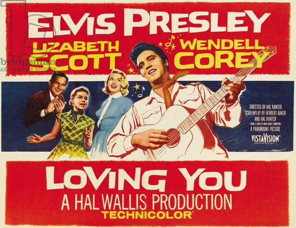 LOVING YOU, far right: Elvis Presley, 1957.
