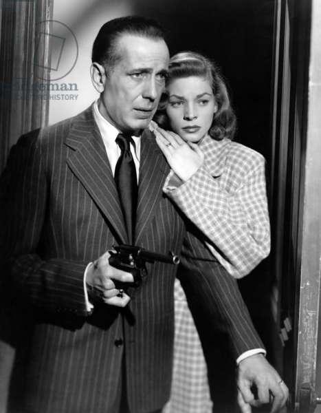 DARK PASSAGE, Humphrey Bogart, Lauren Bacall, 1947.