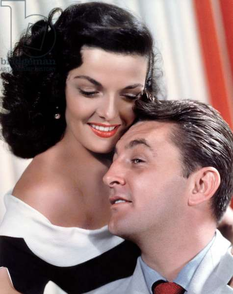 JANE RUSSELL and ROBERT MITCHUM, c. 1950s.