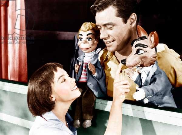 LILI, from left: Leslie Caron, Mel Ferrer, 1953