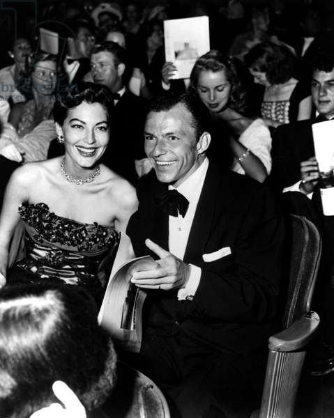 Ava Gardner, Frank Sinatra, Janet Leigh, Tony Curtis at the premiere of SHOW BOAT, 1951. Photograph by Murray Garrett