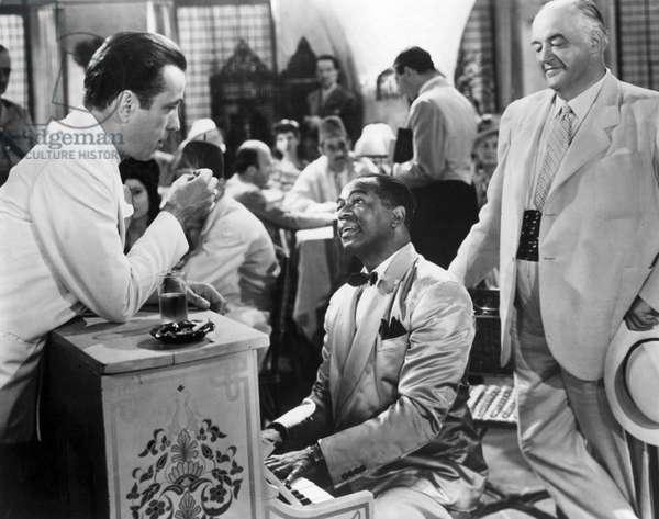 CASABLANCA, Humphrey Bogart, Dooley Wilson, Sydney Greenstreet, 1942