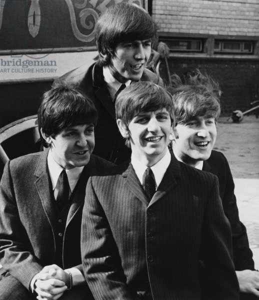 A HARD DAY'S NIGHT, front from left: Paul McCartney, Ringo Starr, John Lennon, George Harrison (rear