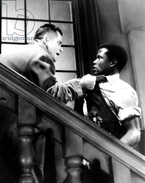 BLACKBOARD JUNGLE, Glenn Ford, Sidney Poitier, 1955