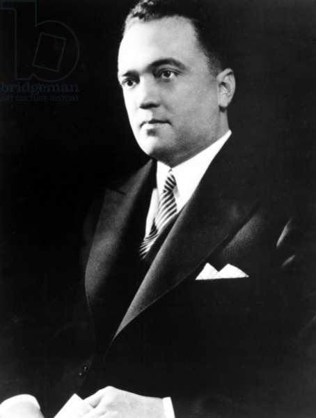 J. Edgar Hoover, portrait ca. 1940s