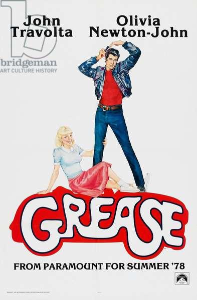 GREASE, US poster, John Travolta, Olivia Newton-John, 1978, © Paramount Pictures/courtesy Everett Collection