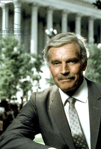 CHIEFS, Charlton Heston, 1983, photo: Robert Phillips/Everett Collection