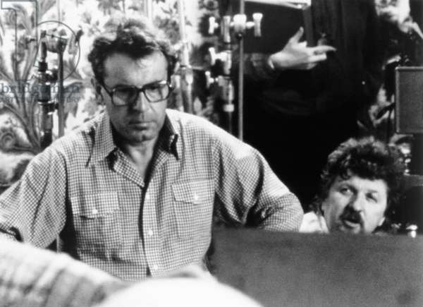 AMADEUS, director Milos Forman, on-set, 1984, ©Orion Pictures/courtesy Everett Collection