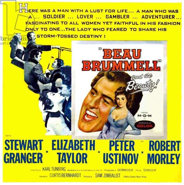 LE BEAU BRUMMELL: BEAU BRUMMELL, Stewart Granger, Elizabeth Taylor, 1954.