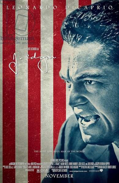 J. EDGAR, US poster art, Leonardo DiCaprio, 2011