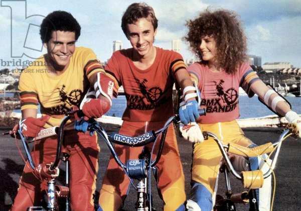 Le Gang des BMX: BMX BANDITS, from left: Angelo D'Angelo, James Lugton, Nicole Kidman, 1983. ©Rank Film Organization/ courtesy/Everett Collection