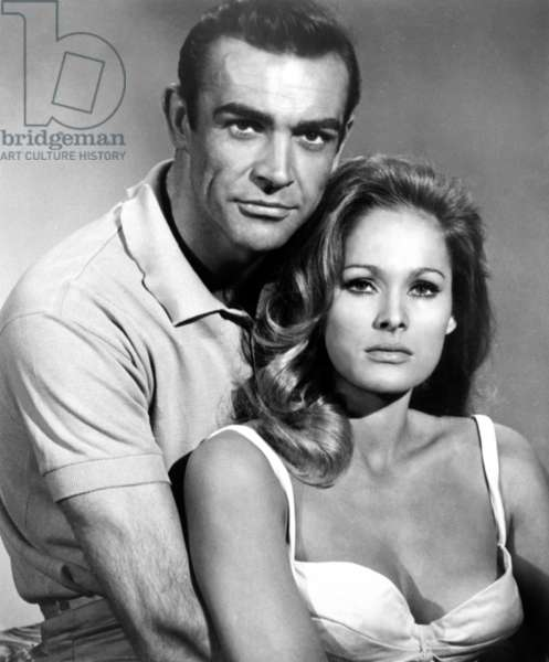DR. NO, from left: Sean Connery, Ursula Andress, 1962