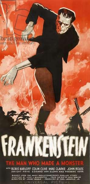 FRANKENSTEIN, poster art, 1931