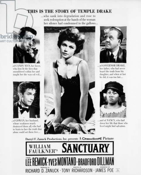 Sanctuaire: SANCTUARY, Lee Remick, Yves Montand, Bradford Dillman, Howard St. John, Odetta, 1961, TM and Copyright (c) 20th Century-Fox Film Corp. All Rights Reserved