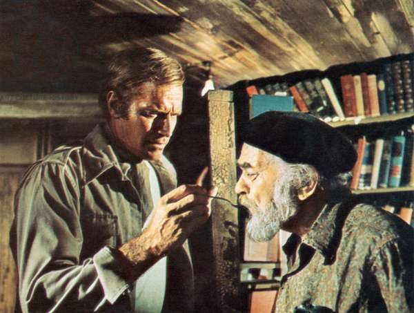 SOYLENT GREEN, Charlton Heston, Edward G. Robinson, 1973