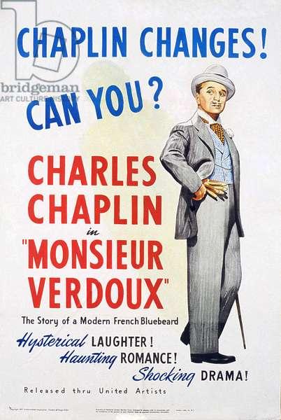 MONSIEUR VERDOUX, Charlie Chaplin, 1947