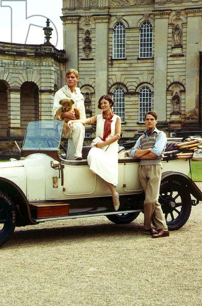 Anthony Andrews, Diana Quick and Jeremy Irons in the tv adaptation of Evelyn Waugh's Brideshead Revisited, 1981