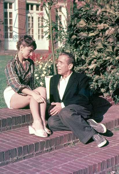 Audrey Hepburn et Humphrey Bogart: SABRINA, Audrey Hepburn, Humphrey Bogart, on-set, 1954