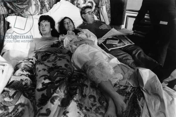 Valmont: VALMONT, from left, Colin Firth, Meg Tilly, director Milos Forman, on-set, 1989, ©Orion Pictures/courtesy Everett Collection
