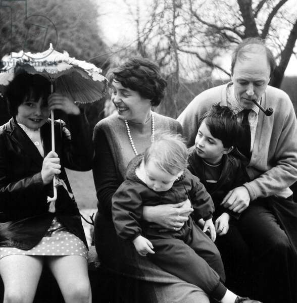 Roald Dahl et sa famille