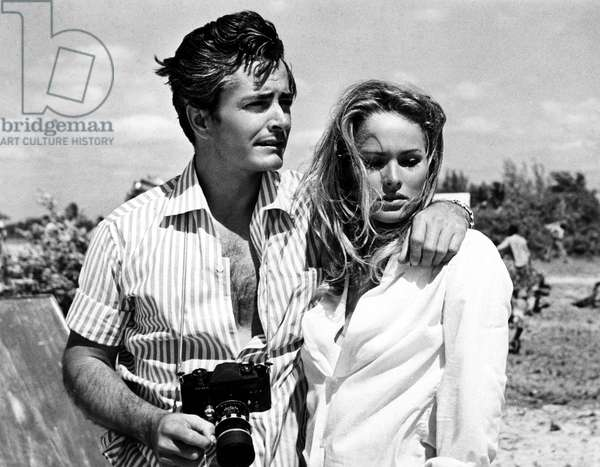 John Derek and Ursula Andress in Jamaica during the filming of DR. NO, 1962