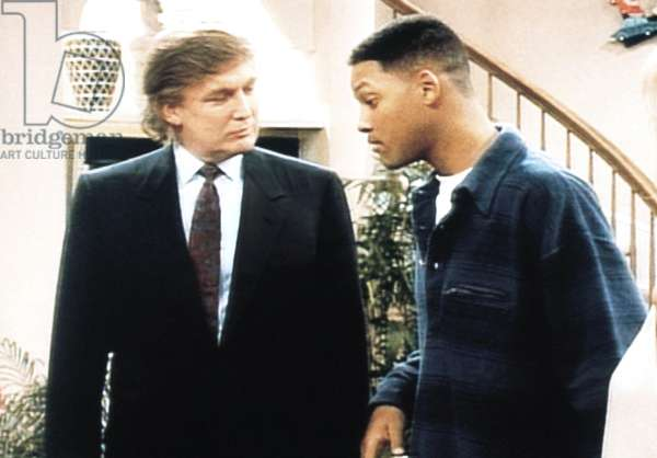 THE FRESH PRINCE OF BEL-AIR, (from left): Donald Trump, Will Smith, 'For Sale By Owner', (Season 4, aired May 16, 1994), 1990-96. © NBC / Courtesy: Everett Collection