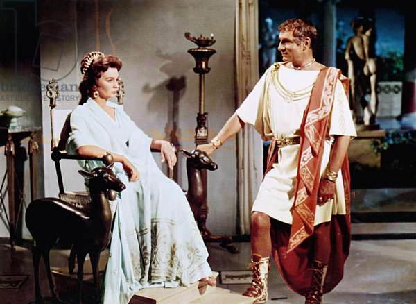 SPARTACUS, from left: Jean Simmons, Laurence Olivier, 1960