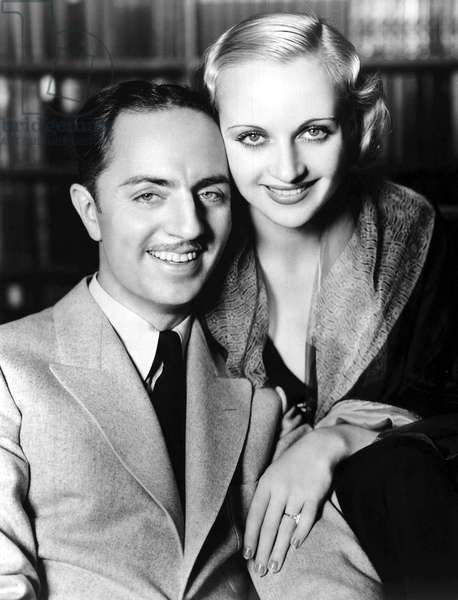CAROLE LOMBARD and, then husband, WILLIAM POWELL, 1932.