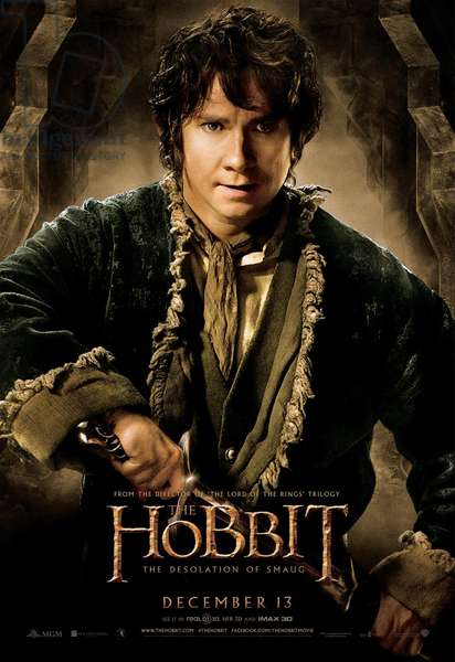 THE HOBBIT: THE DESOLATION OF SMAUG, advance poster art, Martin Freeman as Bilbo Baggins, 2013. ©Warner Bros. Pictures/courtesy Everett Collection