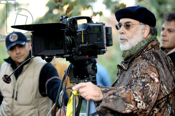 YOUTH WITHOUT YOUTH, director Francis Ford Coppola (foreground, right), on set, 2007. ©Sony Pictures Classics/courtesy Everett Collection