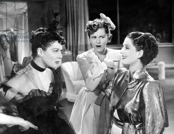 Femmes: THE WOMEN, from left, Rosalind Russell, Joan Fontaine, Norma Shearer, 1939