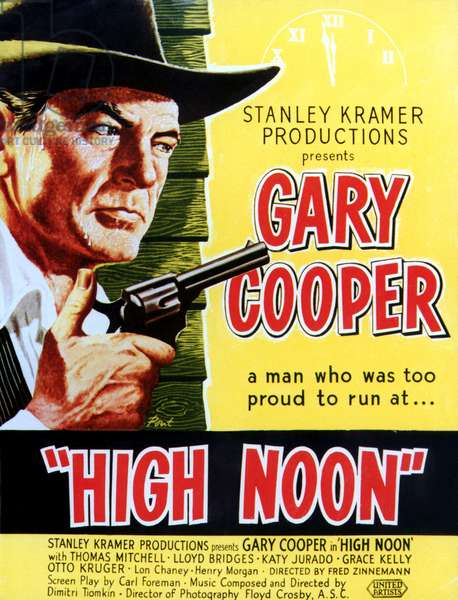 Le train sifflera 3 fois: HIGH NOON, Gary Cooper, 1952