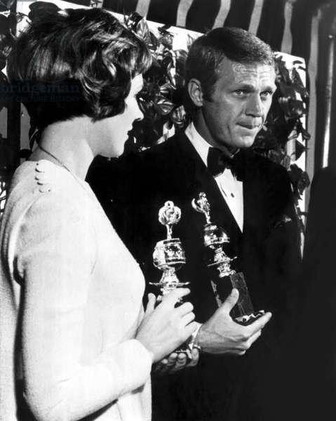 Julie Andrews, Steve McQueen, at 1967 Golden Globe Awards