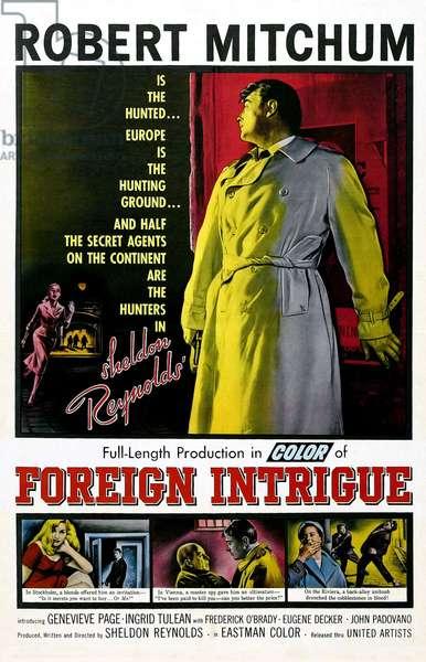 FOREIGN INTRIGUE, Robert Mitchum, 1956
