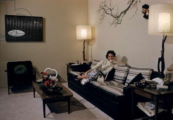 Natalie Wood at home, circa late 1950s