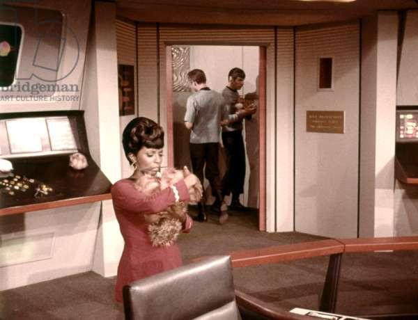 STAR TREK, Nichelle Nichols, DeForest Kelley, Leonard Nimoy, 1966-69, episode: 'The Trouble With Tribbles', Season 2